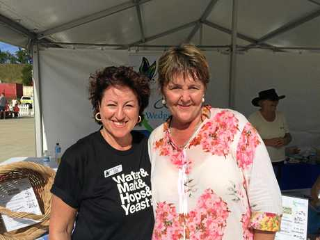 Wedgetail's Liza Nagy and Meredith Dennis at the Stone & Wood Brewing Company open day, Murwillumbah.