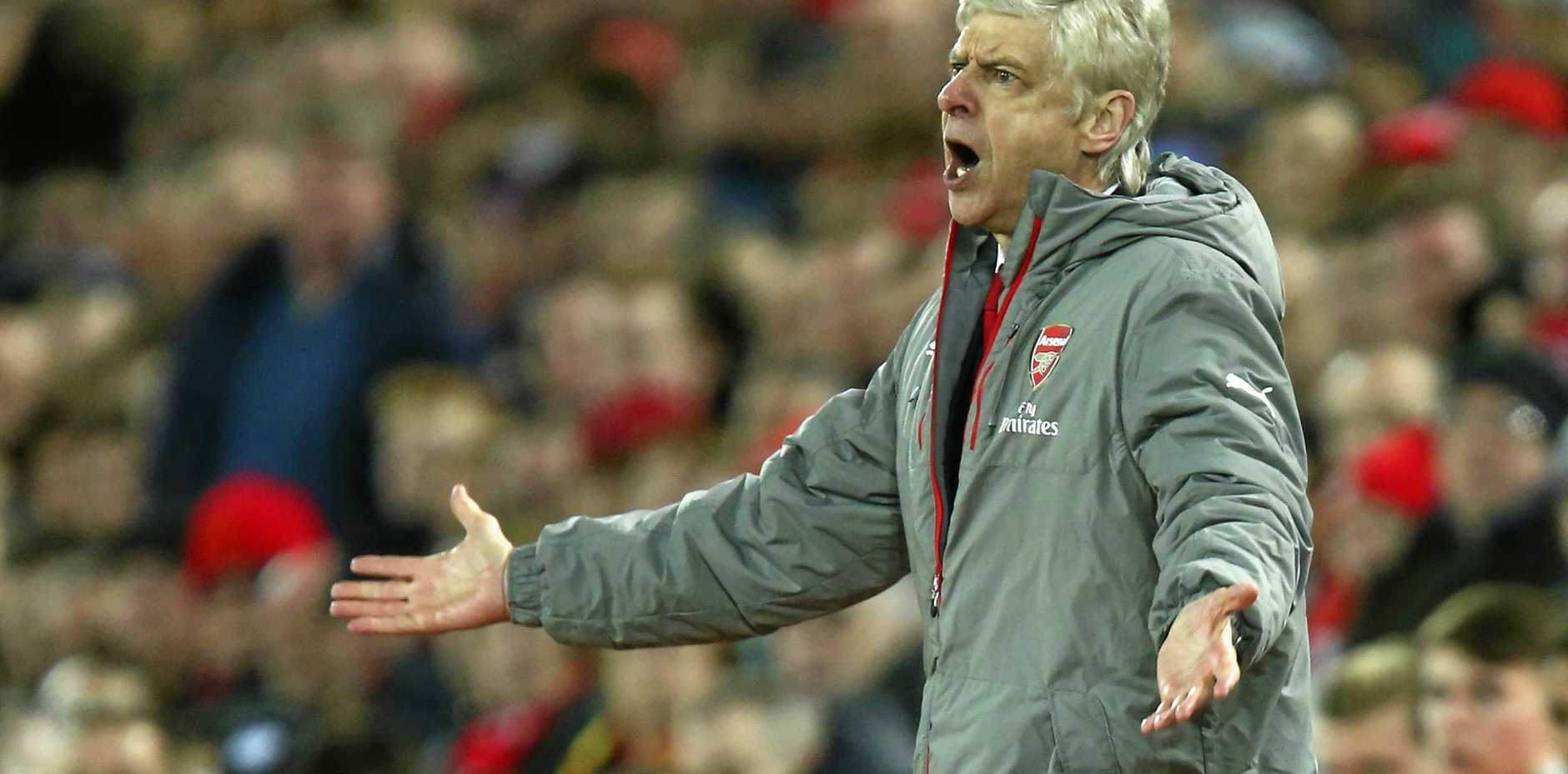 Pressure is mounting on Arsenal manager Arsene Wenger after defeat to Liverpool.