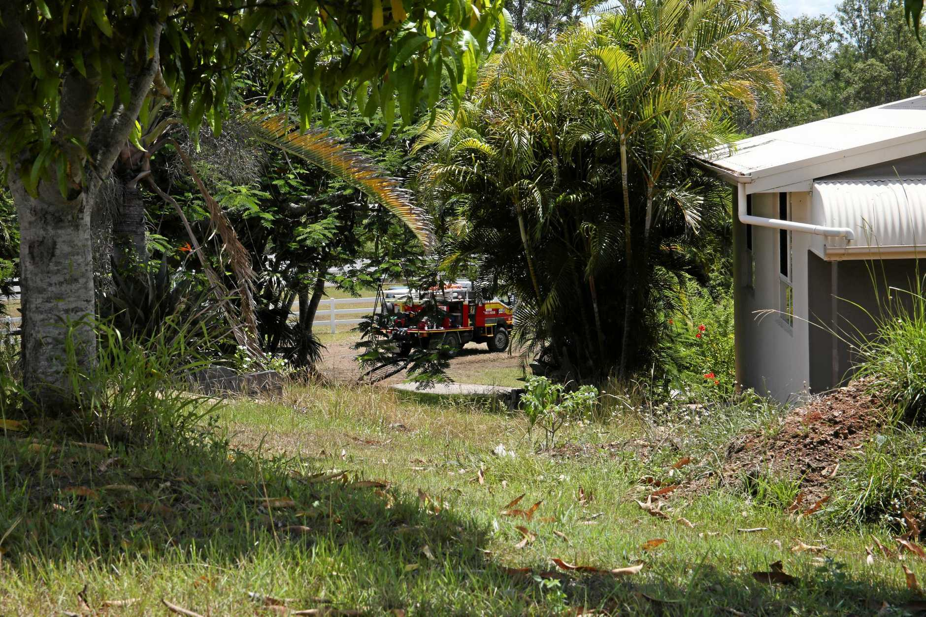 Scenes from the Lagoon Pocket property where a horse had suspected Hendra contamination.