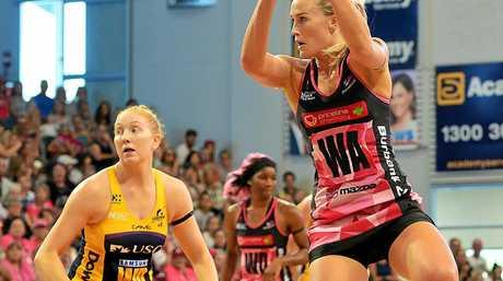 Adelaide's Chelsea Pitman at the  Adelaide Thunderbirds v Sunshine Coast Lightning at Priceline Stadium, Mile End picture: Bianca De Marchi