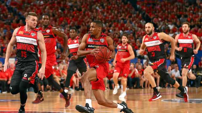 GRAND EFFORT: Bryce Cotton had a record-breaking game in the Wildcats' NBL title win yesterday.