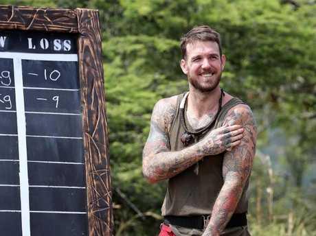 Dane Swan has lost 14kg in the jungle.