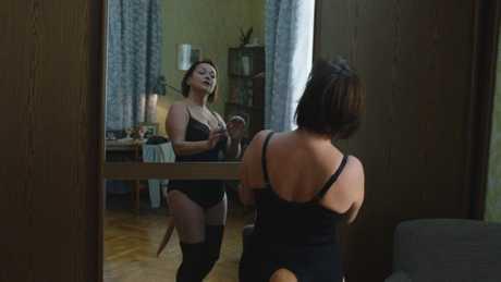 Natalya Pavlenkova in a scene from the movie Zoology.