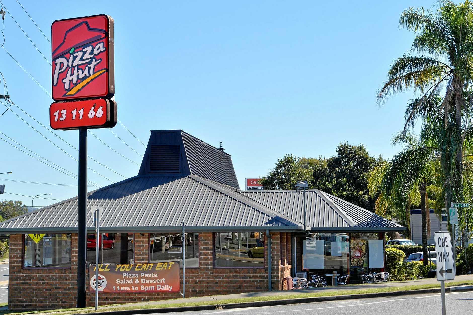 Pizza Hut Restaraunt, Brisbane Road, Gympie. May 30, 2016.