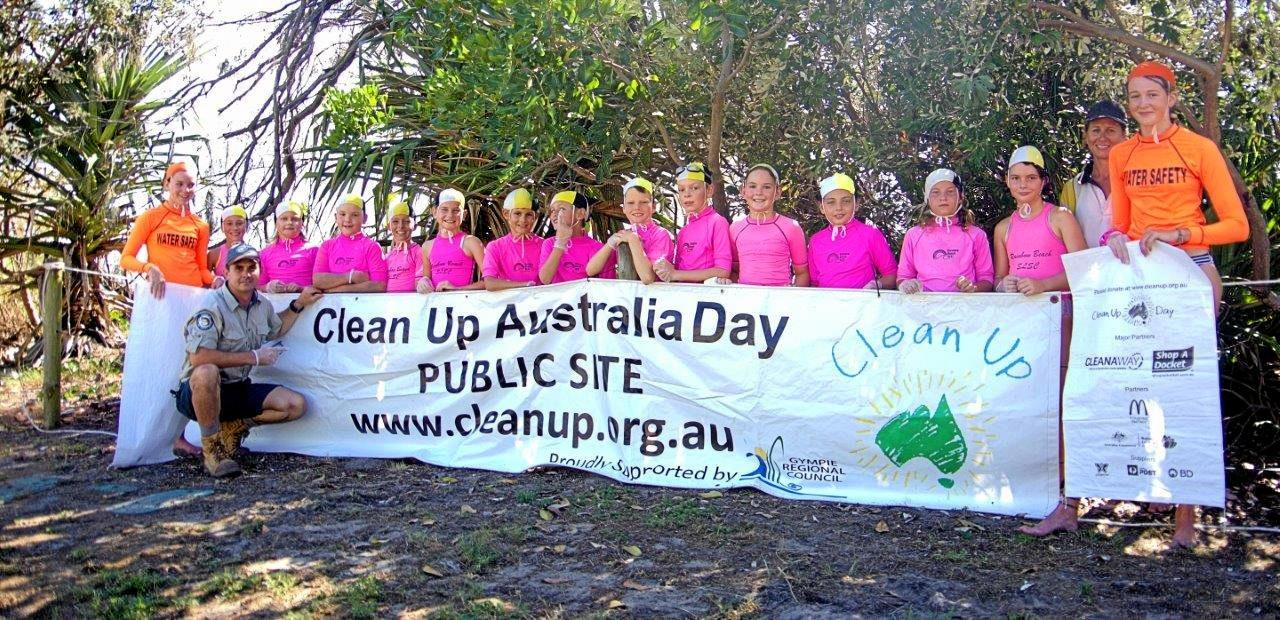 A CLEAN AUSTRALIA: The Nippers did their part to clean up the environment they enjoy swimming and playing in.