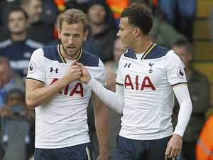Kane at the double to keep Spurs in second