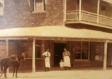 The produce shop where Wilbur lived as a baby in Brisbane before his family moved to Ipswich.