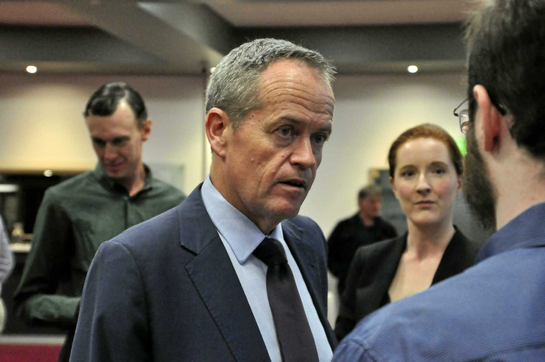 Bill Shorten attends a community forum in Rockhampton on August 15, 2016. Jobs, Visa workers, childcare and the NBN were at the forefront of the issues discussed on the night.
