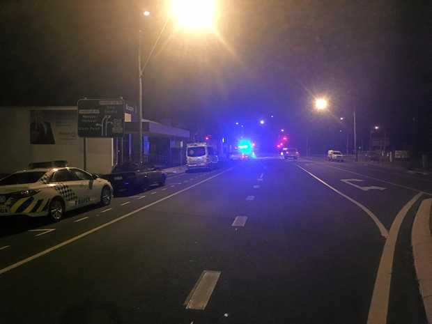 Police in North Mackay Monday night.
