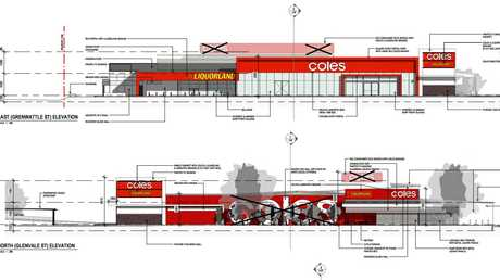Coles' updated plans for the upcoming Glenvale supermarket.