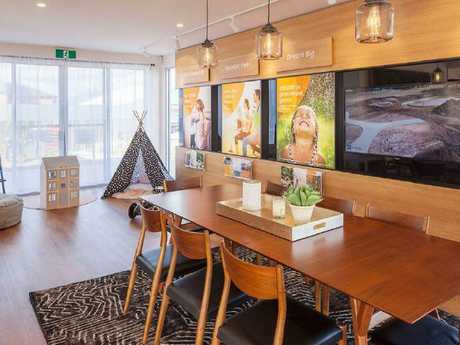 One of the sales suites Diva Works designed for developer Stockland. Picture: Diva Works
