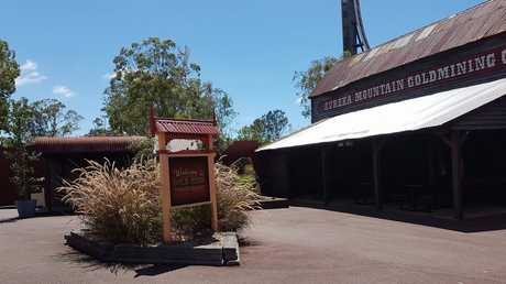 NO RUSH: Dreamworld has been left a ghost town as seen here in the 'Gold Rush' area.