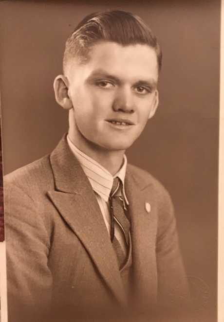 Wilbur Smith as a young man.