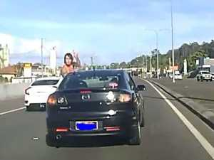 Young family attacked: Road rage caught on dash cam