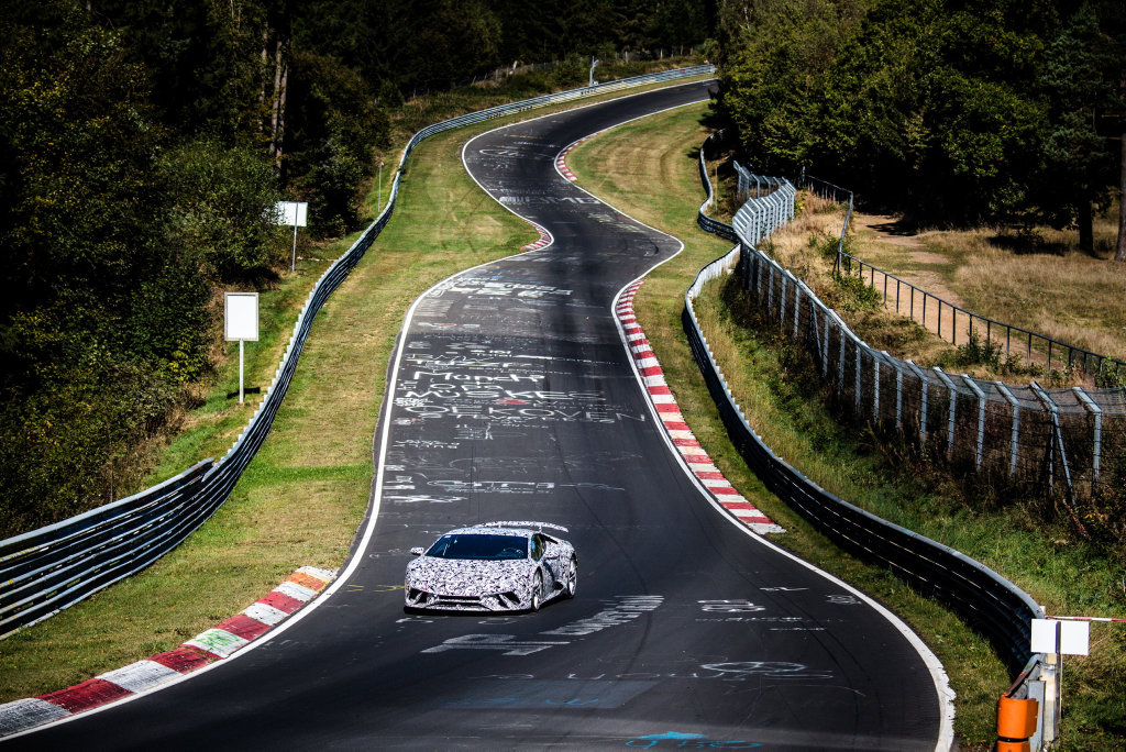 Lightweight four-wheel drive and aero-optimised Huracan Performante breaks new speed ground at the Green Hell