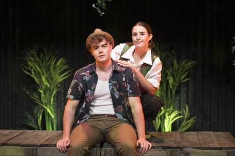 Rianna Hollsten-Provenzano and Harry Harms play the lead roles in As You Like It part of the 2017 USQ Shakespeare Festival.