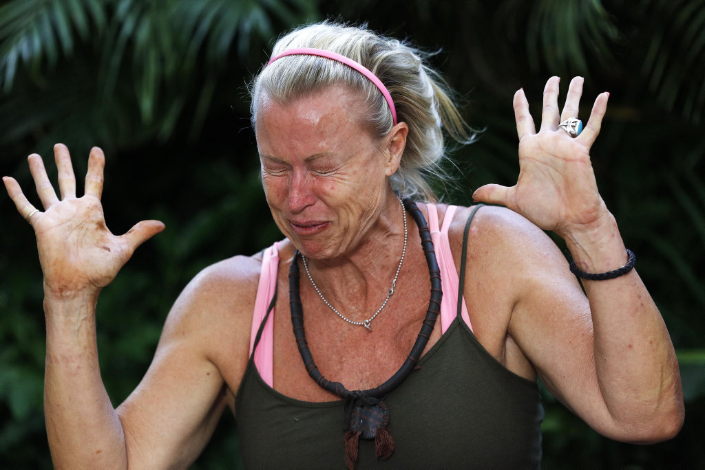 Lisa Curry pictured in her latest Tucker Trial on I'm A Celebrity... Get Me Out of Here!