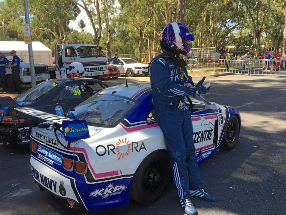 READY: Bundaberg's Kel Treseder prepares to race at the Clipsal 500.
