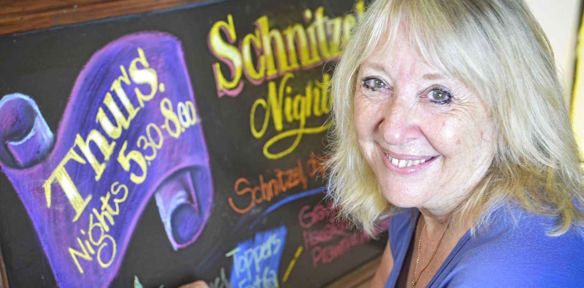 Unusual Jobs: Lorraine Taylor is a ticket writer, menu and chalkboard artist. Photo: Patrick Woods / Sunshine Coast Daily