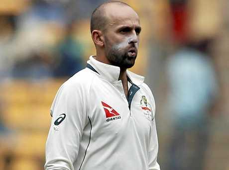 Nathan Lyon now has 301 Test wickets. (AP Photo/Aijaz Rahi)