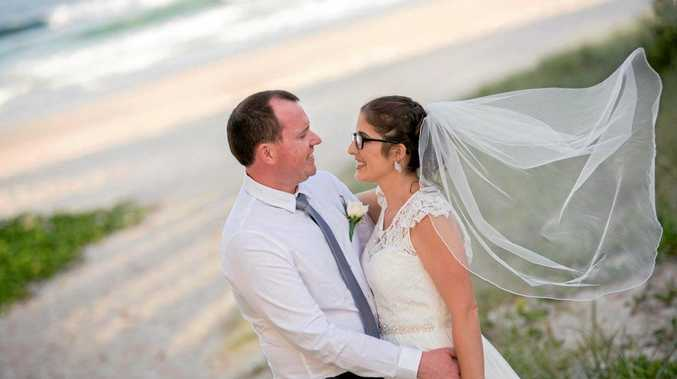 LONG TIME LOVERS: Mr and Mrs Lyons finally tied the knot in December after 12 years together.