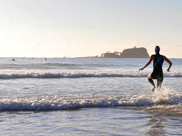 CHARITY SWIM: The island at Mudjimba.