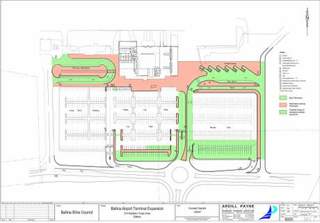 Ballina Byron Gateway Airport new carpark plan.