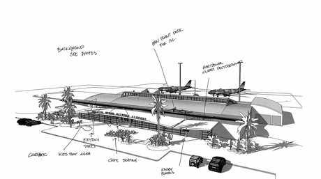 An artist impression of Ballina Byron Gateway Airport.
