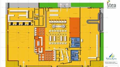 Ballina Byron Gateway Airport interior plan.