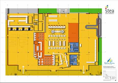 Ballina Byron Gateway Airport interior plan.