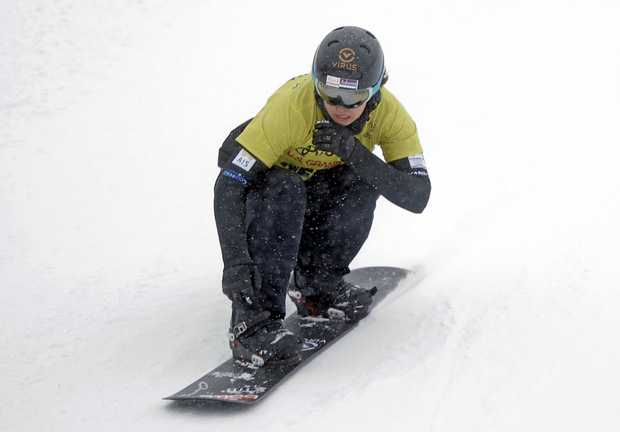 Belle Brockhoff competes in a World Cup  in Solitude, Utah in January.