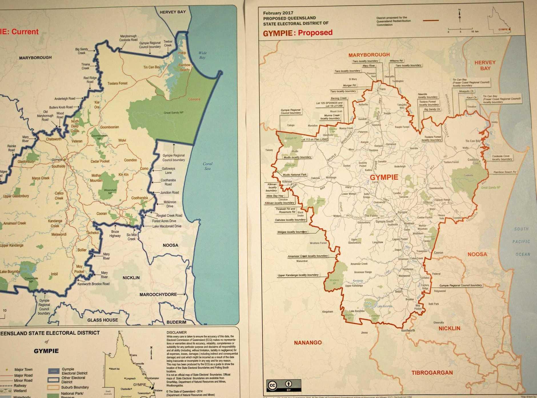 Gympie electoral map