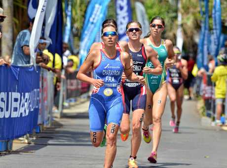 Mooloolaba Triathlon Festival, ITU Triathlon World Cup Elite Women's race, March 14, 2015:  Photo Patrick Woods / Sunshine Coast Daily