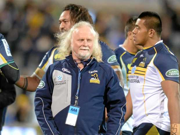 Laurie Fisher during his time as director of rugby for the Brumbies in 2014.