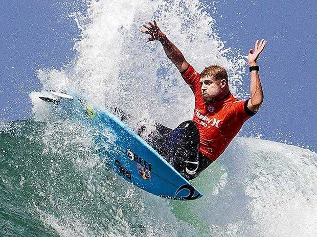 Mick Fanning at the Hurley Pro Trestles last year.