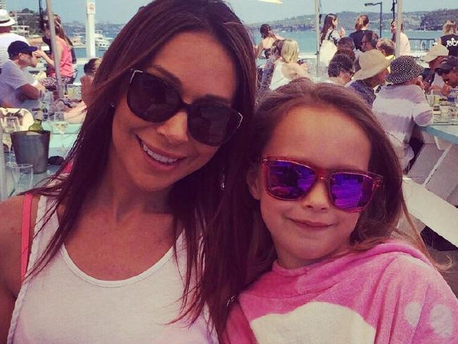 Rachel Bradshaw with her daughter Carys.