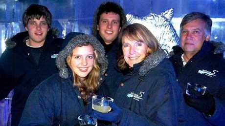 Henri Van Breda, left, with sister Mali, brother Rudi, mother Teresa and father Martin.
