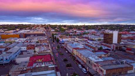 The skyline of Toowoomba as seen from a DJI Inspire 2 drone.
