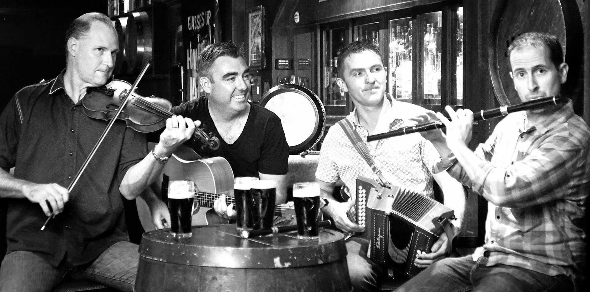 IRISH GIG: Brisbane-based Irish band Sásta, are providing the live music for the Heart of Ireland show in Caloundra.