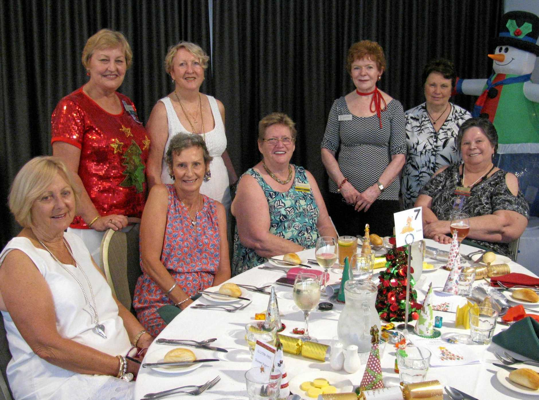 The ladies from the Logan VIEW club enjoying a meal for Thanksgiving last year.