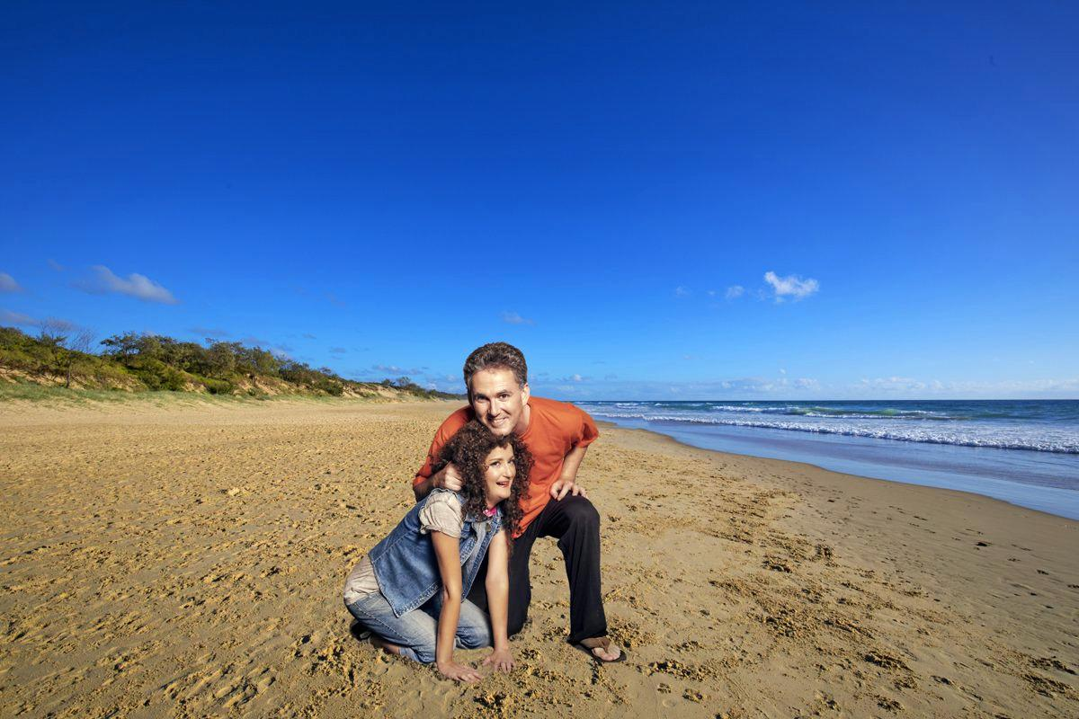 Jesse Hana Ellison and Shaun Bennett, play Sylvia and Greg in Coolum Theatre Players, canine comedy, 'Sylvia'.