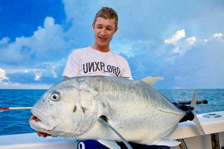 Gold Coast local Chris Coupland caught this ripper GT at the reef last week with Sea Fever Sport Fishing.