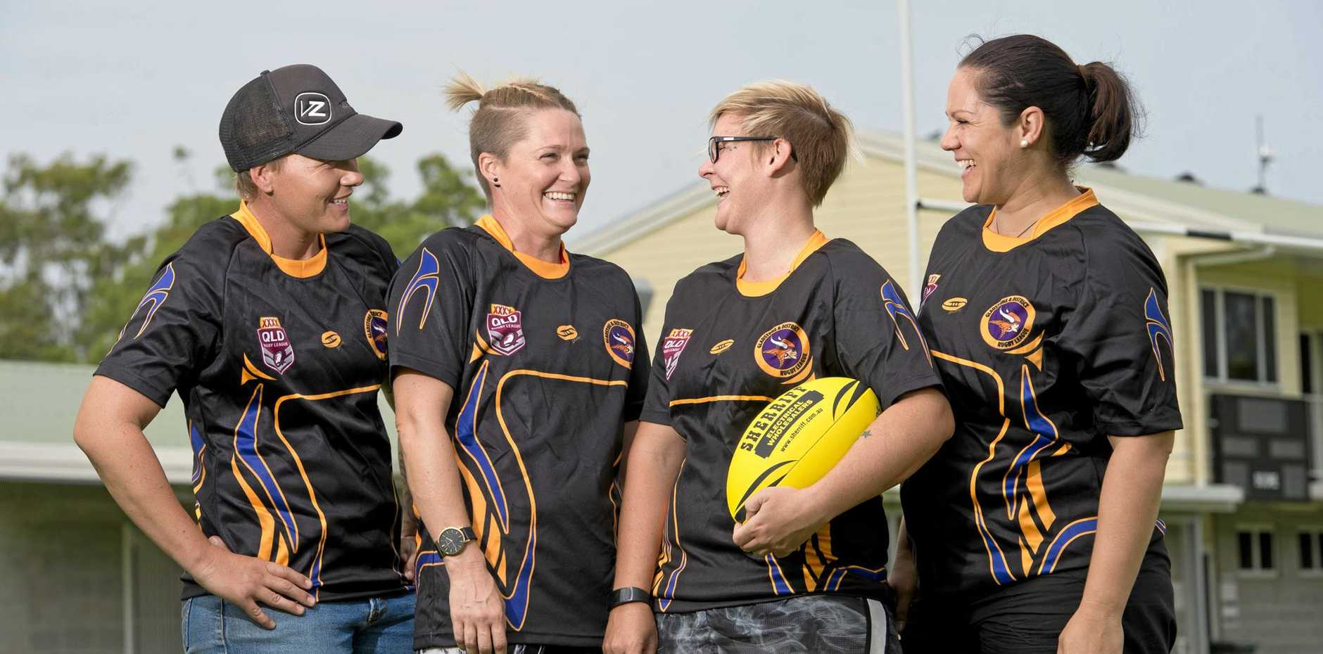 WOMEN POWER: Kara Moore, Chelsea Baker, Nadine Day and Sarah Stewart are a part of the Gladstone Raidettes team.