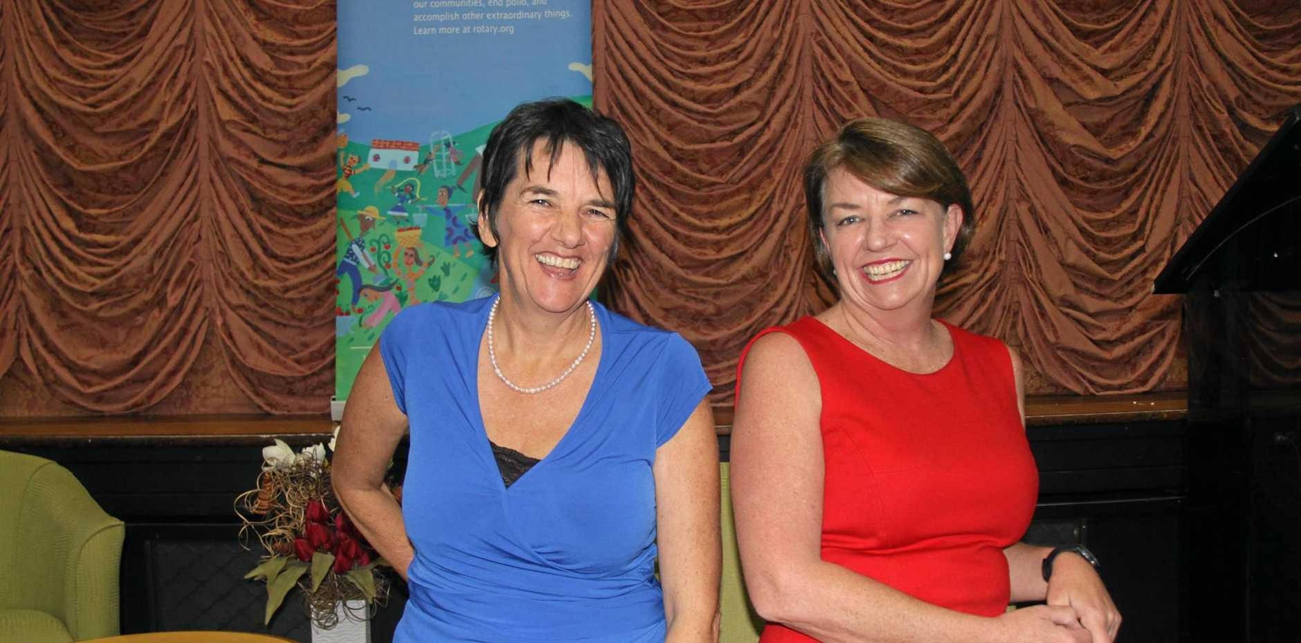 YWCA's Sandra Handley with former Queensland premier Anna Bligh who was the key note speaker at an International Women's Day lunch in Lismore.