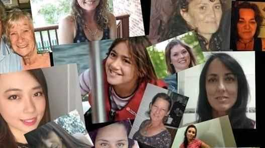 Some of the women and children lost to violence in Australia.