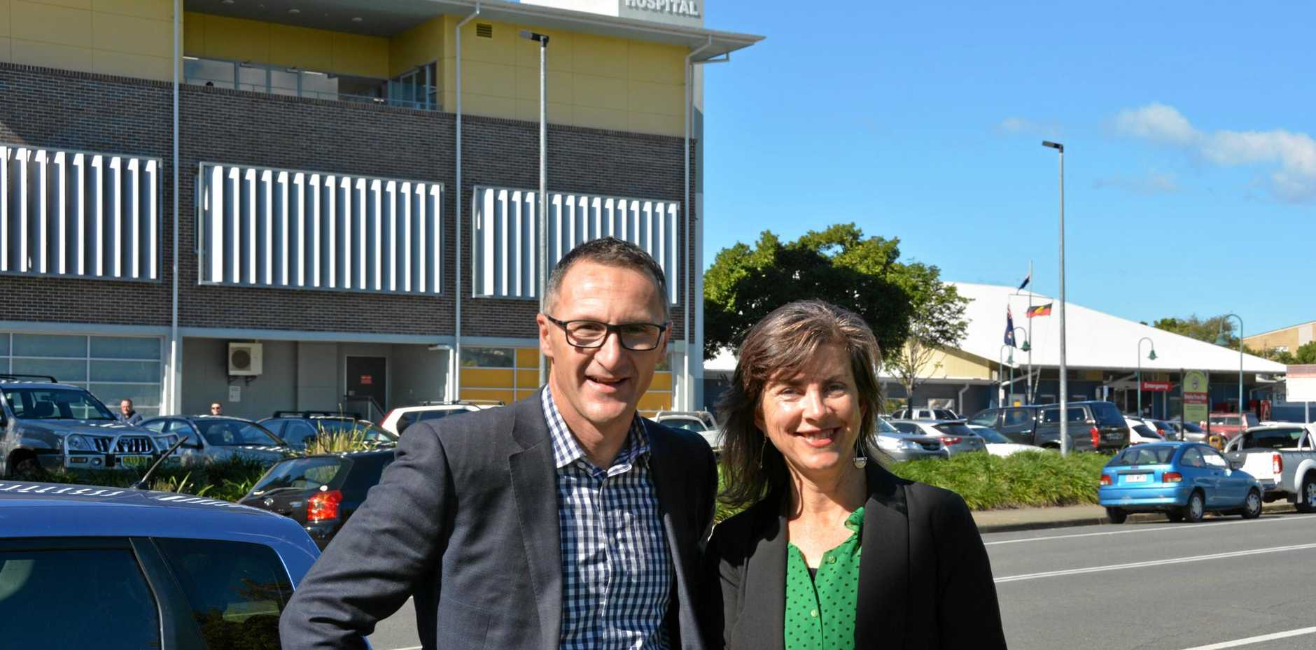 Greens' leader Richard Di Natale with Dawn Walker, MLC for NSW.