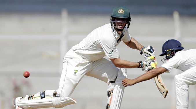 Australia's Mitchell Marsh bats  India A in Mumbai, India, Saturday, Feb. 18, 2017. (AP Photo/Rajanish Kakade)