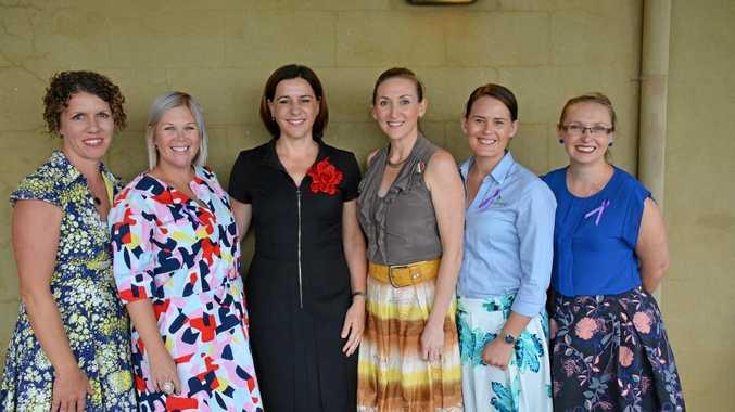 Kathyrn Stevens, Julie Entwistle, Deb Frecklington, Caroline Cavanagh, Kirsty Shumacher and Stephanie Denman at International Women's day breakfast Kingaroy