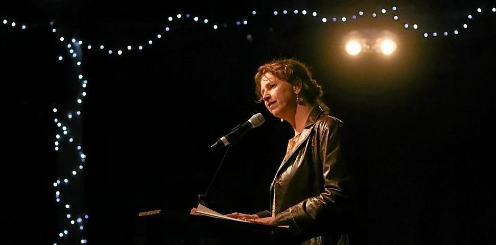 HEAR THEM ROAR: Local poet Kristin Hannaford.