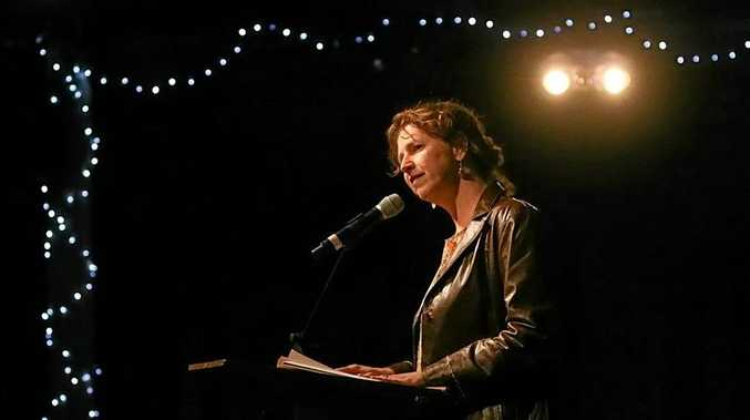 HEAR THEM ROAR: Local poet Kristin Hannaford.